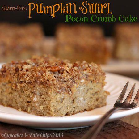 Gluten-Free #Pumpkin Swirl Pecan Crumb Cake | cupcakessndkalechips.com ...