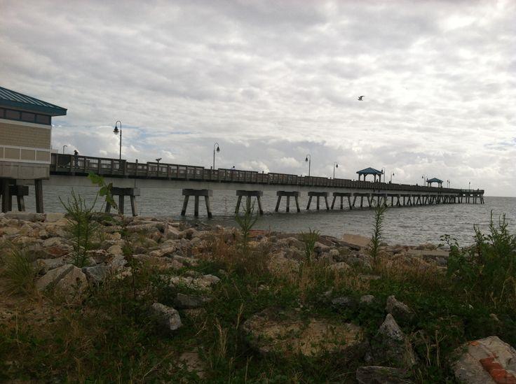 Side view of the pier buckroe beach fishing pier d for Buckroe beach fishing pier