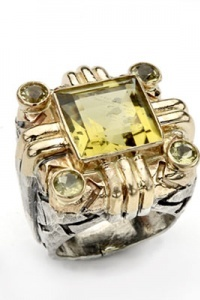 Dian Malouf art deco ring.