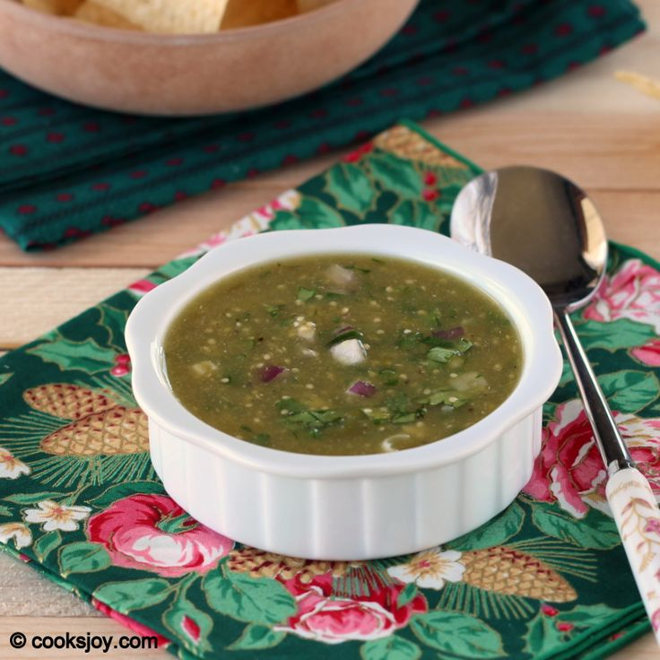 Roasted Tomatillo Salsa - growing these in my garden - will try this ...