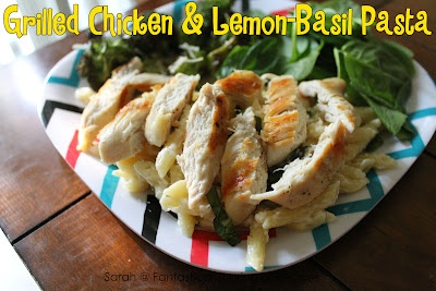 Grilled Chicken with Lemon-Basil Pasta