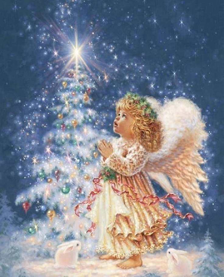 Beautiful christmas angel angels pinterest for Christmas angels