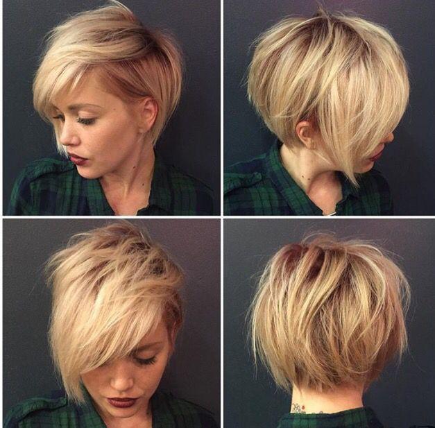 Модные стрижки на короткие волосы с челкой женские