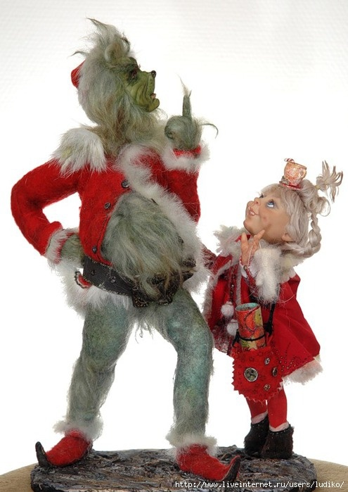 The grinch and cindy lou who dolls pinterest