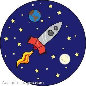 Astronomy Clip Art | Description: Clip art of a cartoon rocket ...: pinterest.com/pin/385339311838604679