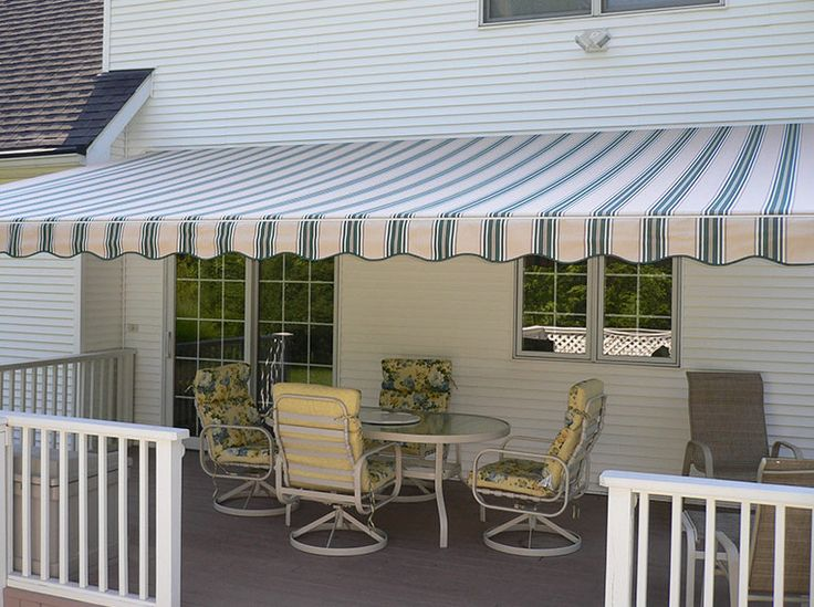 Sunsetter Retractable Awning In Spruce Sunsetter Awnings