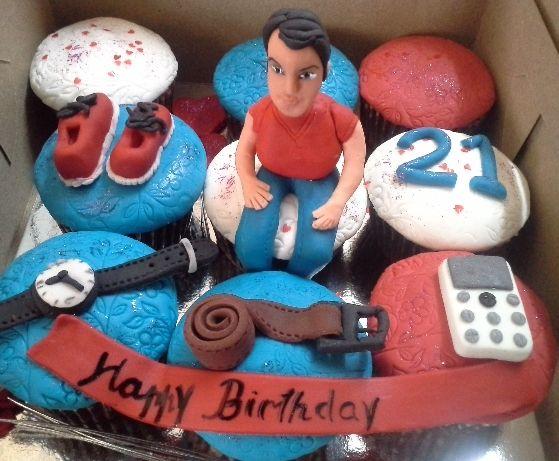Birthday cupcakes for Machoman  Cupcakes & Cake Shots  Pinterest