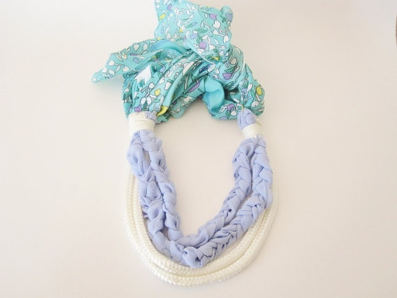 rope and braided chiffon nautical necklace with by telloandrose