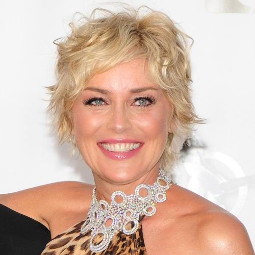 sharon stone curly hair - Google Search