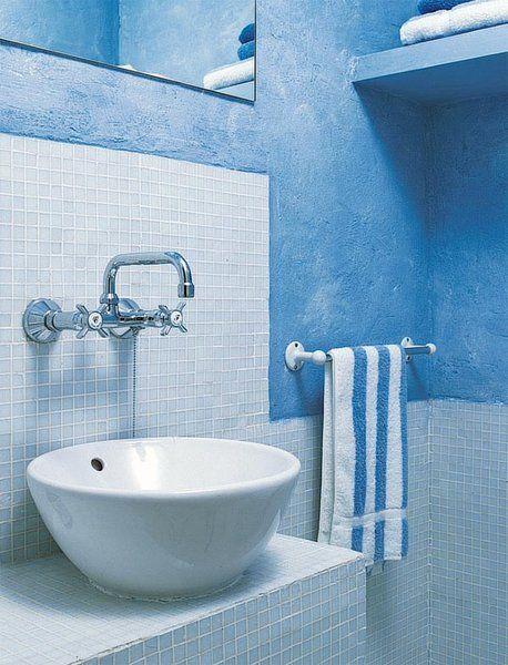Azulejos Para Baños Pena:Lavamanos Bol de Roca y gresite de Azulejos Peña