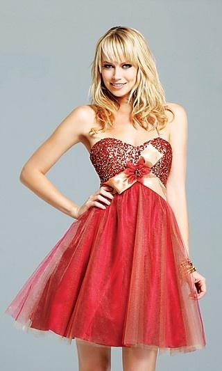 Atemberaubende rote Ballkleid können Sie zurück | Bridesmaid Dresses ...