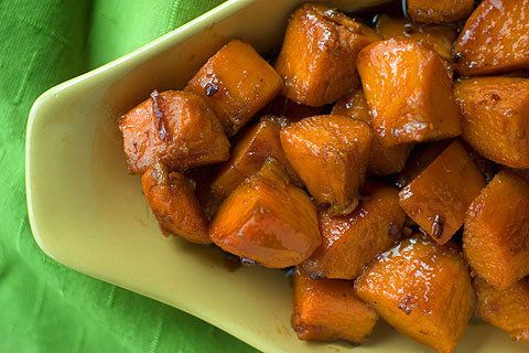 Cider Glazed Sweet Potatoes seasoned with orange zest & fresh ginger