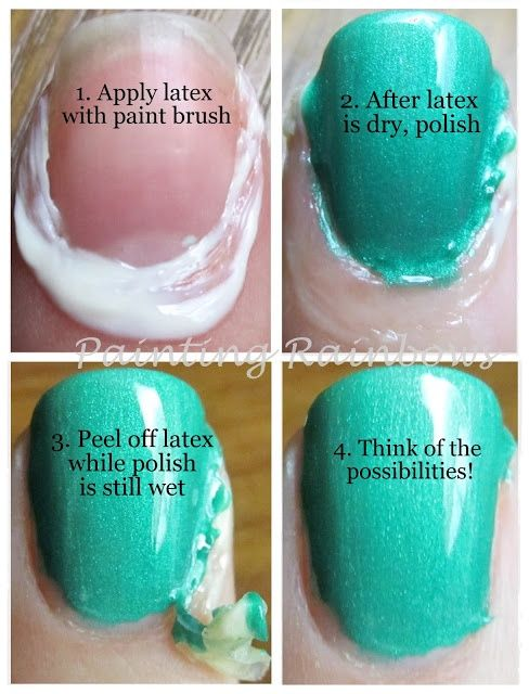 Use liquid latex for nail art masking instead of blowing the money on