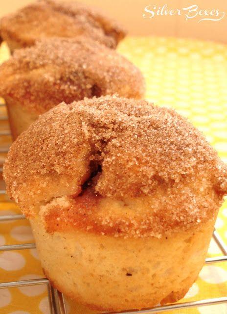Jam-Filled Cinnamon Doughnut Muffins | Breakfast recipes | Pinterest