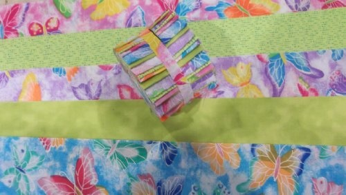 Butterfly Passion Jelly Roll Cotton Fabric Quilting 20 2.5
