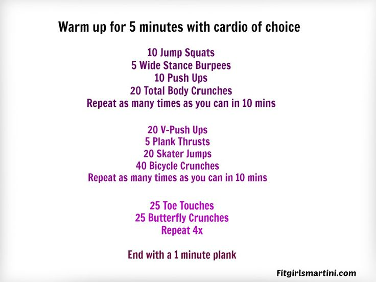 Thirty and Done Workout FitGirlsMartini.com