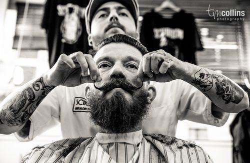 Barbershop wax moustache