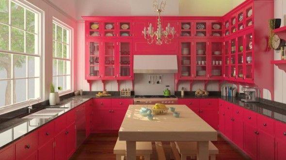 Pink Kitchen Design  Kitchen Designs  Pinterest