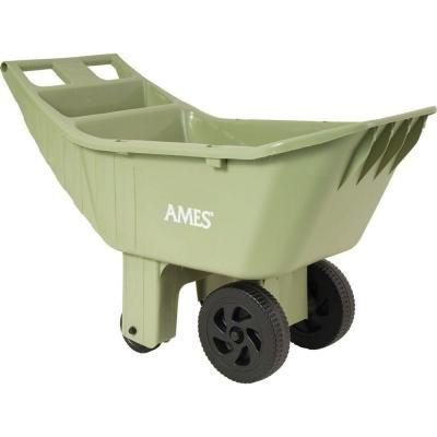 Ames Carts Wheelbarrows 4 Cu Ft Poly Lawn Cart 2463975