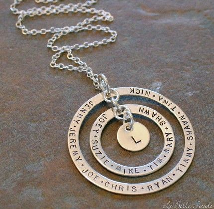 Stamped Metal Necklaces