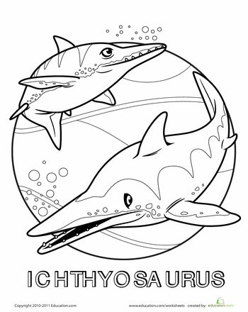 ichthyosaurus colouring pagesIchthyosaurus Coloring Page