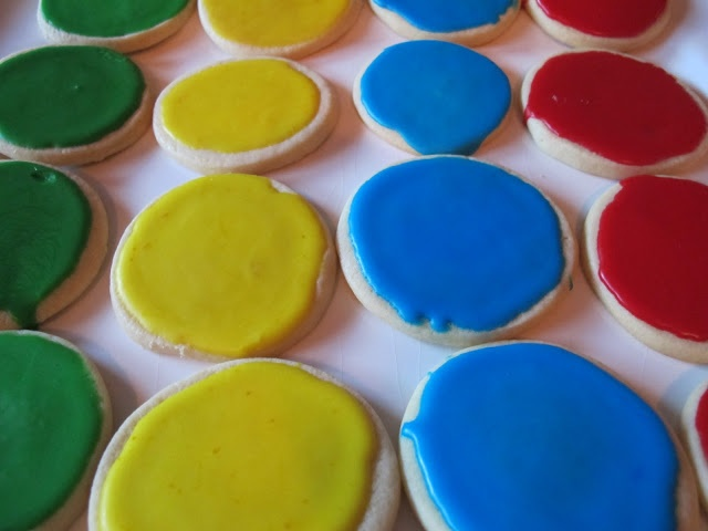 twister board almond shortbread cookies...make for your next game night!
