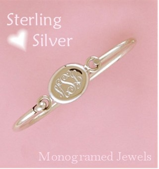 Monogrammed jewelry, especiallynthis bracelet, is so classic. I just bought one like this, and put my daughter's initials on it....then, someday, she, too can wear it, and know that I did, also.  Monogrammed Bracelet  www.thepepperkids.com