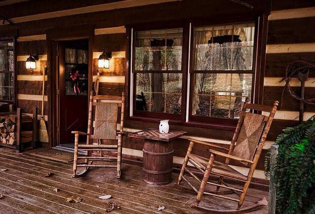 cabin porch cabins inside and out pinterest