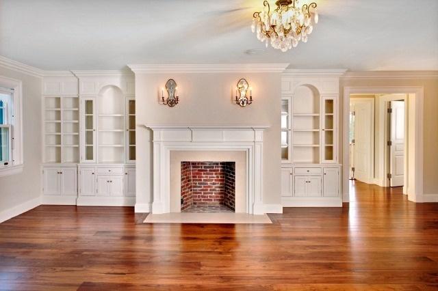 Fireplace Bumpout W Bookcase Surrounds Ideas Pinterest