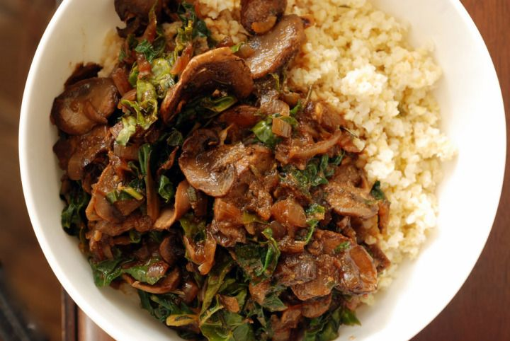 Millet Bowl with Mushroom Gravy and Kale | Healthy eating | Pinterest