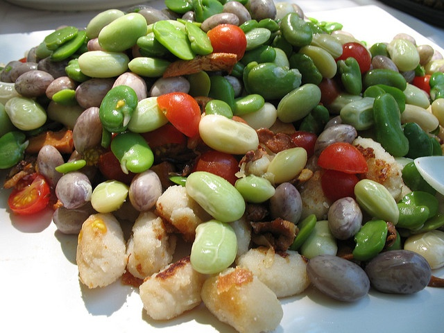 Golden, Crispy Gnocchi with Summer Shell Beans - recipe at http://www ...