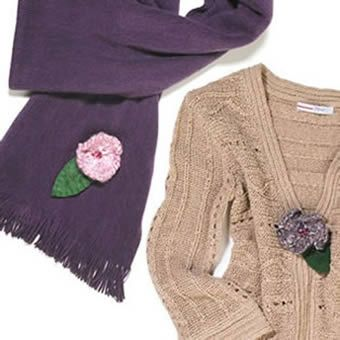 Free Knitted Flower Brooch Patterns : FREE KNITTING PATTERNS FOR FLOWER BROOCHES   KNITTING PATTERN