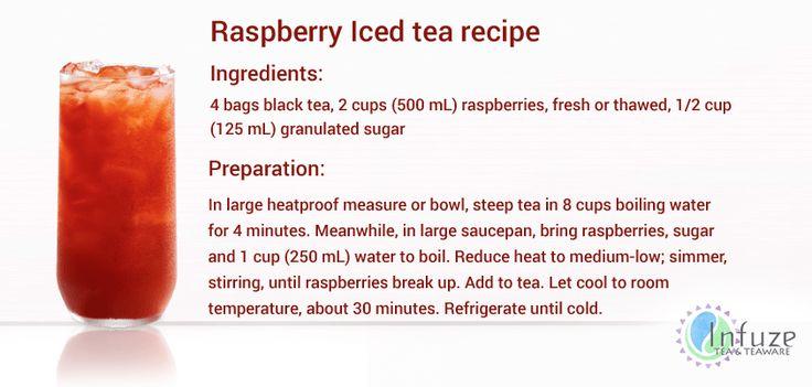Raspberry iced tea recipe for the tea lovers
