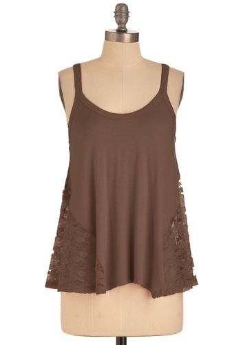 It's Trapeze-y Top in Dark Taupe