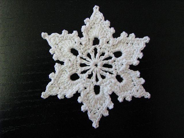 Free Crochet Snowflake Ornament Patterns   Snowflake - free crochet ...