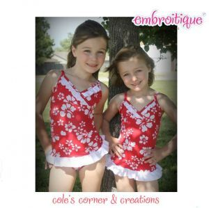 one stylish swimsuit pdf sewing pattern cole s corner and creations ...