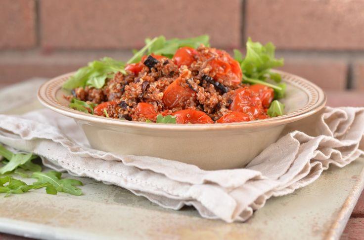 Warm Quinoa and Arugula Salad with Lemon Dressing