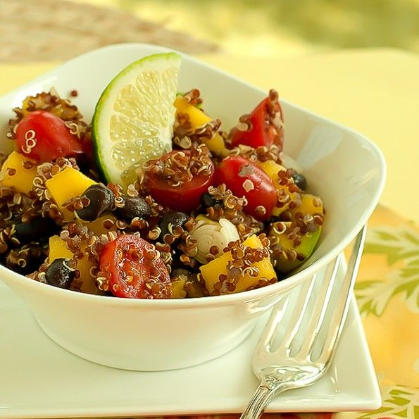 Quinoa salad with Avocado and Mangos.   food   Pinterest