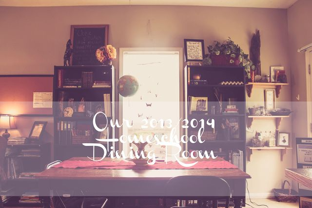 Pin by lindsay patton on small space homeschool for Homeschool dining room ideas