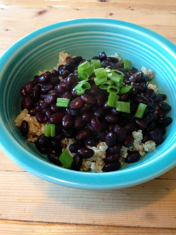 crock pot korean style black beans ~gluten free, vegan~