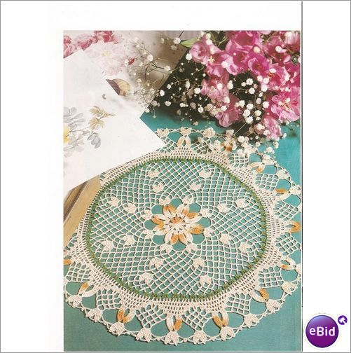 Crochet Doily Pattern Cheerful Note on eBid New Zealand