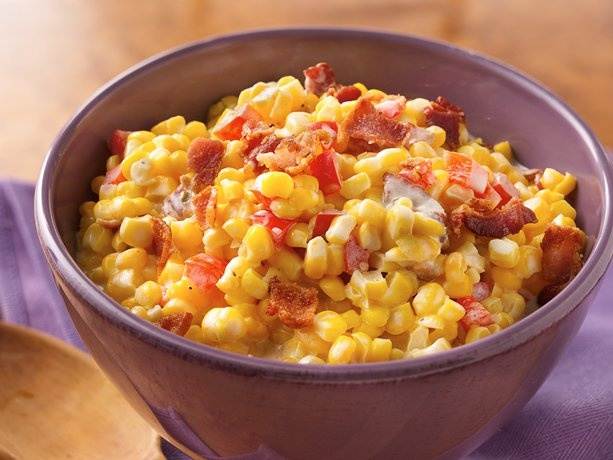 Chive-and-Onion Creamed Corn with BACON