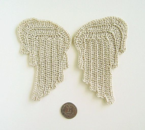 Crochet Pattern Angel Wings : Crochet PATTERN Angel Wings - Two Styles - Appliques ...