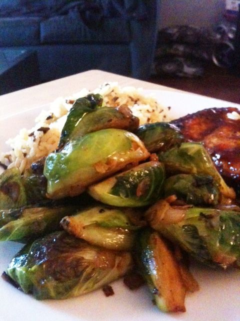 Sauteed brussels sprouts | cooking | Pinterest