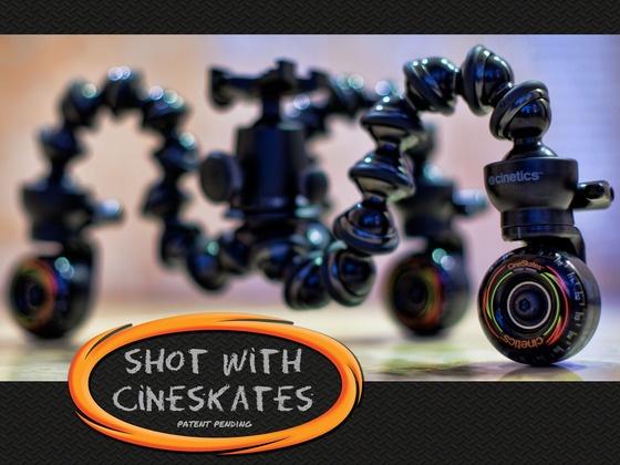 skateboard wheels + GorillaPod = CineSkates