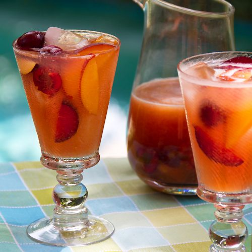Summer Sangria with Stone-Fruit and Cherries - SippitySup