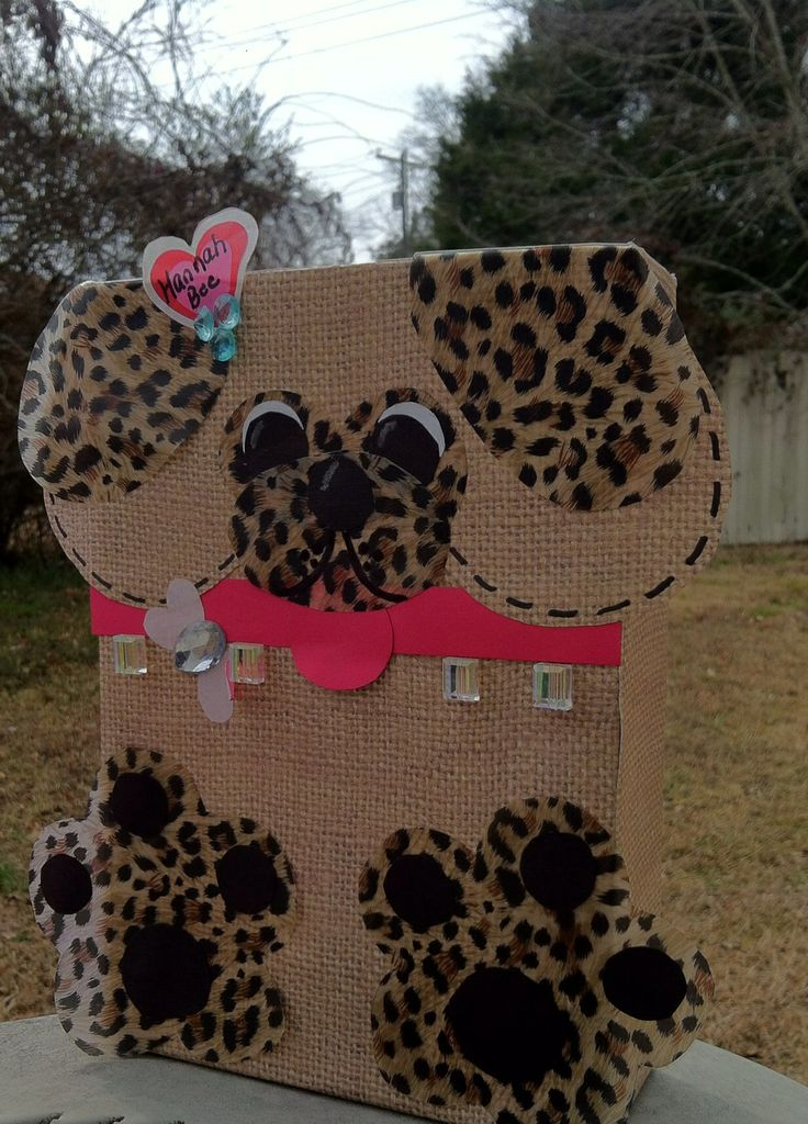 Puppy Valentine Box I made for Bee! | Madison | Pinterest