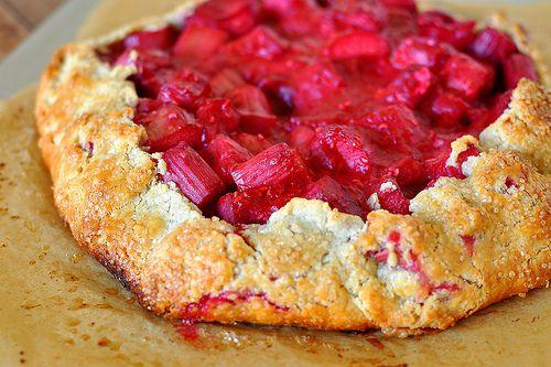 rhubarb and raspberry crostata | Recipes ALL | Pinterest