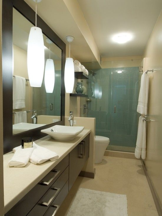 Home design idea bathroom designs narrow long for Narrow bathroom designs