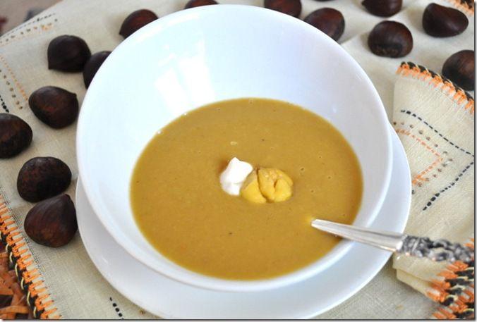 Leek and Chestnut Soup | Soup Warms the Soul | Pinterest